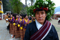 Φεστιβάλ του Μπουτάν στοκ εικόνες