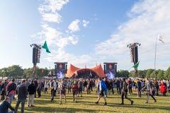 Φεστιβάλ 2016 του Ρόσκιλντ - πορτοκαλιά συναυλία σκηνών στοκ φωτογραφίες