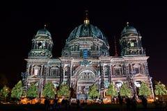 Φεστιβάλ του φωτός, Βερολίνο, Γερμανία - από το Βερολίνο DOM στοκ εικόνες με δικαίωμα ελεύθερης χρήσης
