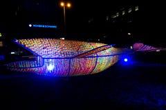 Φεστιβάλ του φωτός, Βερολίνο, Γερμανία - Ernst Reuter Platz Στοκ Εικόνα