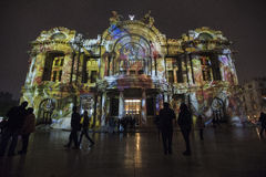 Φεστιβάλ του φωτός σε Bellas Artes Στοκ φωτογραφίες με δικαίωμα ελεύθερης χρήσης