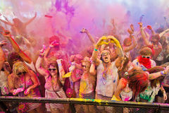Φεστιβάλ του χρώματος Holi ένα κόμμα Στοκ φωτογραφία με δικαίωμα ελεύθερης χρήσης
