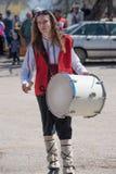 Φεστιβάλ των μίμων με προσωπείο σε Paisievo, Βουλγαρία Στοκ Φωτογραφία
