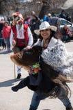 Φεστιβάλ των μίμων με προσωπείο σε Paisievo, Βουλγαρία Στοκ Εικόνα