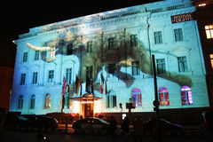 Φεστιβάλ των φω'των Βερολίνο Στοκ Φωτογραφίες