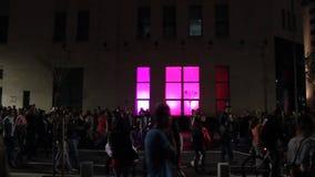 Φεστιβάλ των φω'των - πεζοί απόθεμα βίντεο