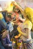 Φεστιβάλ των χρωμάτων: Holi Στοκ εικόνα με δικαίωμα ελεύθερης χρήσης