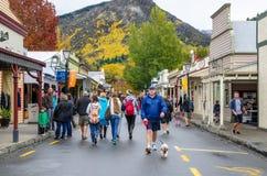 Φεστιβάλ φθινοπώρου Arrowtown στην οδό Buckingham Στοκ Φωτογραφίες