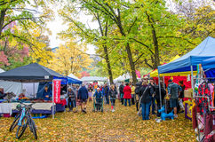Φεστιβάλ φθινοπώρου Arrowtown στη Νέα Ζηλανδία Στοκ Εικόνες