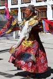 Φεστιβάλ 2013, χορευτής Ladakh μασκών με το παραδοσιακό φόρεμα Στοκ φωτογραφία με δικαίωμα ελεύθερης χρήσης