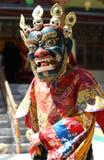 Φεστιβάλ 2013, χορευτής Ladakh μασκών με το παραδοσιακό φόρεμα Στοκ Εικόνες