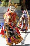 Φεστιβάλ 2013, χορευτής Ladakh μασκών με το παραδοσιακό φόρεμα Στοκ φωτογραφίες με δικαίωμα ελεύθερης χρήσης