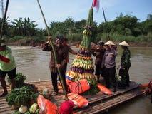 Φεστιβάλ Bengawan σόλο από που ανοίγει ο δήμαρχος του Σουρακάρτα στοκ εικόνα με δικαίωμα ελεύθερης χρήσης