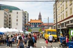 Φεστιβάλ Chinatown Σιάτλ Ουάσιγκτον δράκων Στοκ εικόνα με δικαίωμα ελεύθερης χρήσης