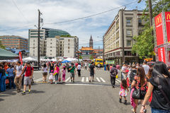Φεστιβάλ Chinatown Σιάτλ Ουάσιγκτον δράκων Στοκ Φωτογραφίες