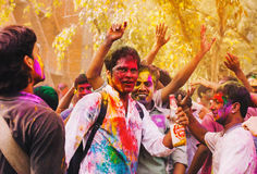 Φεστιβάλ Holi Ευτυχές Holi! στοκ εικόνα με δικαίωμα ελεύθερης χρήσης