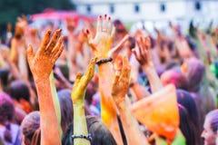Φεστιβάλ Holi χρώματος στοκ εικόνα με δικαίωμα ελεύθερης χρήσης