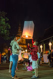 φεστιβάλ krathong loy Στοκ Φωτογραφία