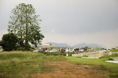 Φεστιβάλ Qingming στο νεκροταφείο Sritasala σε Ratchaburi, Ταϊλάνδη Στοκ φωτογραφίες με δικαίωμα ελεύθερης χρήσης