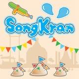 Φεστιβάλ Songkran στοκ φωτογραφίες με δικαίωμα ελεύθερης χρήσης