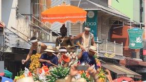 Φεστιβάλ Songkran Chiangmai απόθεμα βίντεο