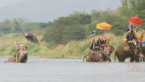 Φεστιβάλ Songkran, Sukhothai, Ταϊλάνδη απόθεμα βίντεο