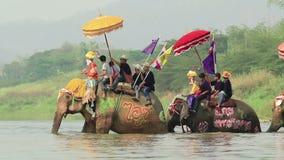 Φεστιβάλ Sukhothai Ταϊλάνδη Songkran απόθεμα βίντεο