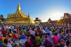 Φεστιβάλ Thatluang σε Vientiane λαοτιανός ΠΠΑ Στοκ Φωτογραφία