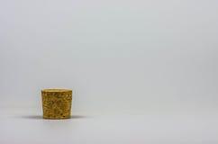 Φελλός σε ένα άσπρο υπόβαθρο Στοκ Εικόνες