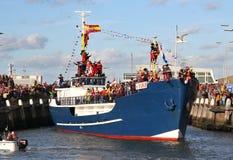φθάνει santa Claus Ολλανδία Στοκ φωτογραφία με δικαίωμα ελεύθερης χρήσης