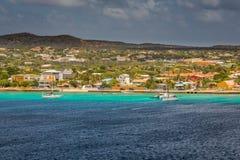 Φθάνοντας σε Kralendijk, Bonaire Στοκ Φωτογραφία