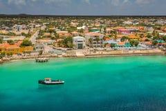 Φθάνοντας σε Kralendijk, Bonaire Στοκ εικόνες με δικαίωμα ελεύθερης χρήσης