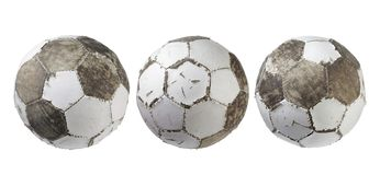 Φθαρμένα ποδόσφαιρα Στοκ φωτογραφία με δικαίωμα ελεύθερης χρήσης