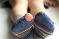 Φθαρμένες κάλτσες Στοκ εικόνα με δικαίωμα ελεύθερης χρήσης
