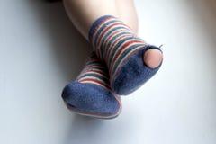 Φθαρμένες κάλτσες Στοκ εικόνες με δικαίωμα ελεύθερης χρήσης