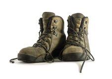 Φθαρμένες παλαιές μπότες πεζοπορίας Στοκ φωτογραφίες με δικαίωμα ελεύθερης χρήσης