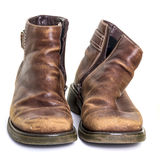 Φθαρμένες παλαιές μπότες Στοκ Εικόνες