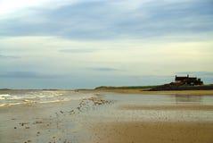 Φθινοπωρινές άμμος και θάλασσα Στοκ Φωτογραφίες