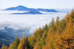 Φθινοπωρινό τοπίο βουνών Στοκ εικόνες με δικαίωμα ελεύθερης χρήσης