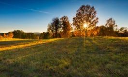 Φθινοπωρινό τοπίο λιβαδιών Στοκ εικόνα με δικαίωμα ελεύθερης χρήσης