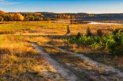 Φθινοπωρινό τοπίο λιβαδιών Στοκ Φωτογραφία