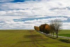 Φθινοπωρινό τοπίο της γαλλικής επαρχίας Στοκ φωτογραφίες με δικαίωμα ελεύθερης χρήσης
