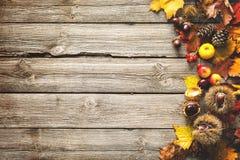 Φθινοπωρινό υπόβαθρο ημέρας των ευχαριστιών Στοκ Φωτογραφίες