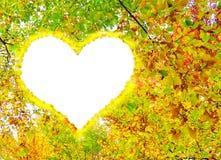 φθινοπώρου απομονωμένο απεικόνιση διάνυσμα καρδιών ανασκόπησης μαύρο Στοκ Εικόνες