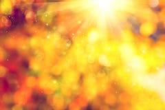Φθινόπωρο ανασκόπηση που θολώνεται αφηρημένη Στοκ Εικόνα