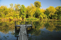 Φθινόπωρο από τον ποταμό Στοκ Φωτογραφία