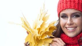 Φθινόπωρο γυναικών Στοκ Εικόνες