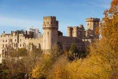 Φθινόπωρο κάστρων Warwick στοκ φωτογραφία
