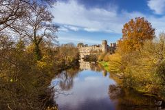Φθινόπωρο κάστρων Warwick στοκ εικόνες