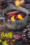 Φθινόπωρο και θερμαμένο κρασί Στοκ Εικόνες